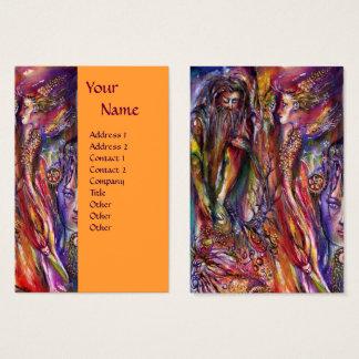 VIVIEN AND MERLIN Pink Purple Orange Fantasy Business Card