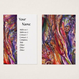 VIVIEN AND MERLIN Pink Purple White Pearl Fantasy Business Card