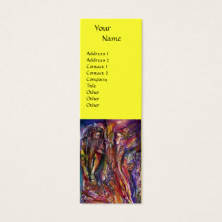 VIVIEN AND MERLIN Pink Purple Yellow Fantasy Mini Business Card
