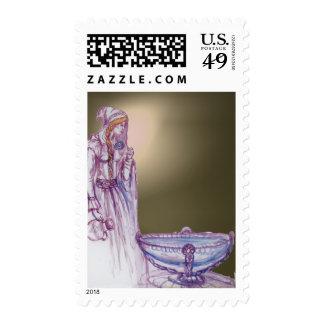 VIVIEN  gem grey agate Stamps