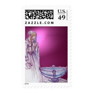 VIVIEN  gem pink purple Postage Stamps