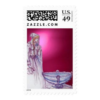 VIVIEN  gem pink red Stamps