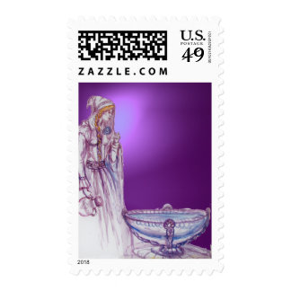 VIVIEN  gem purple Stamps