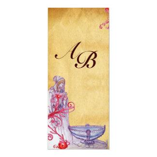 VIVIEN MONOGRAM  parchment purple Card