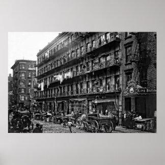 Vivienda de Nueva York - 1912 Póster