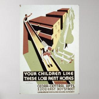Vivienda del gobierno poster
