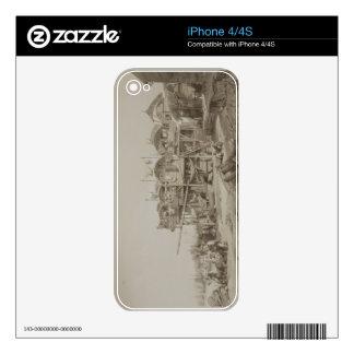 Vivienda para los pobres en el puerto interno de M Skin Para El iPhone 4