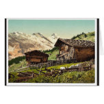 Vivienda suiza, Murren, Bernese Oberland, Switzerl Felicitacion