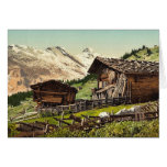 Vivienda suiza, Murren, Bernese Oberland, Switzerl Tarjeta