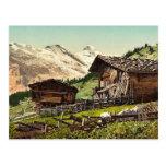 Vivienda suiza, Murren, Bernese Oberland, Switzerl Postales
