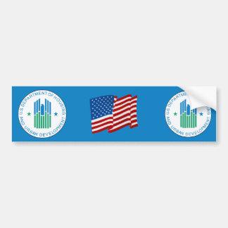 Vivienda y desarrollo urbano etiqueta de parachoque