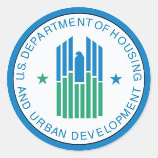 Vivienda y desarrollo urbano pegatina redonda