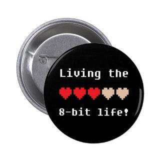 Viviendo el botón de 8 bits de la vida pins