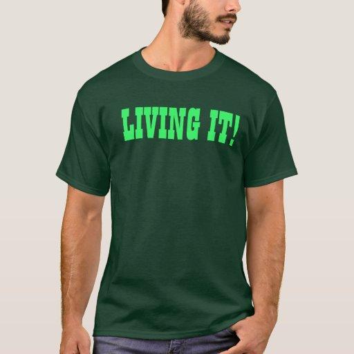 ¡VIVIENDO ÉL! Camiseta profunda del bosque