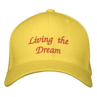 Viviendo el casquillo bordado sueño gorras bordadas