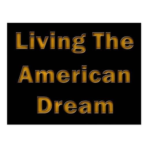 Viviendo el sueño americano tarjetas postales