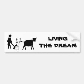 Viviendo el sueño etiqueta de parachoque