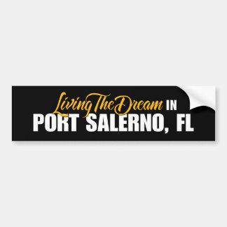 Viviendo el sueño en el puerto Salerno Pegatina De Parachoque