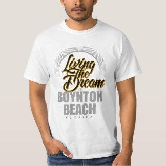 Viviendo el sueño en la playa de Boynton Playera