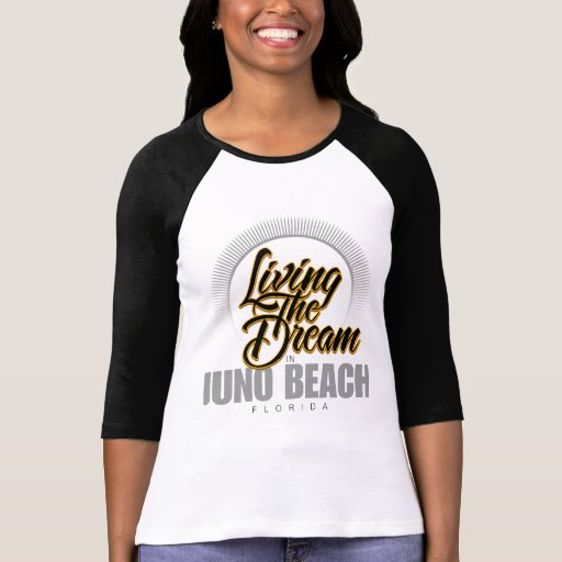 Viviendo el sueño en la playa de Juno Camiseta