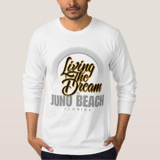 Viviendo el sueño en la playa de Juno Playera