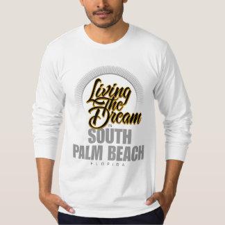 Viviendo el sueño en Palm Beach del sur Playera