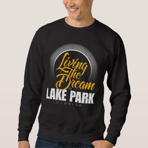 Viviendo el sueño en parque del lago sudadera
