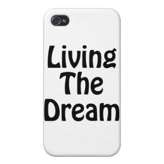 Viviendo el sueño iPhone 4 cárcasa