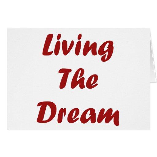 Viviendo el sueño tarjetón