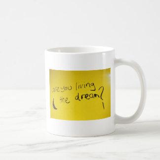 Viviendo el sueño taza básica blanca