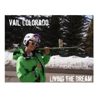 Viviendo el sueño, Vail, Colorado Tarjeta Postal