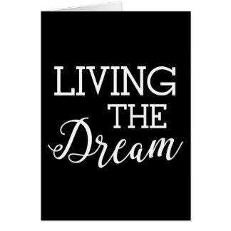Viviendo la buena vida ideal tarjeta de felicitación