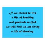 viviendo una vida de la bendición postal