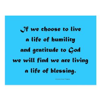 viviendo una vida de la bendición postales