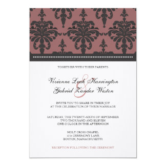 Vivienne Damask Wedding Invitation