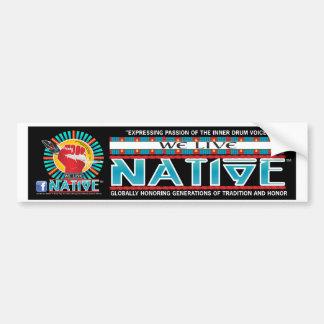 Vivimos colección de Native™ Pegatina De Parachoque