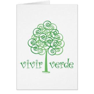 Vivir Verde Tarjeta De Felicitación