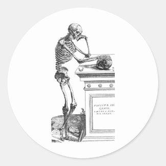 Vivitur Ingenio - esqueleto Pegatina Redonda