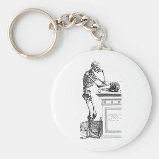 Vivitur Ingenio - Skeleton Basic Round Button Keychain
