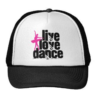 Vivo, amor, bailarina de la danza gorras de camionero