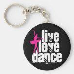 Vivo, amor, bailarina de la danza llaveros