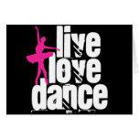 Vivo, amor, bailarina de la danza tarjetón