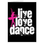 Vivo, amor, bailarina de la danza tarjeton