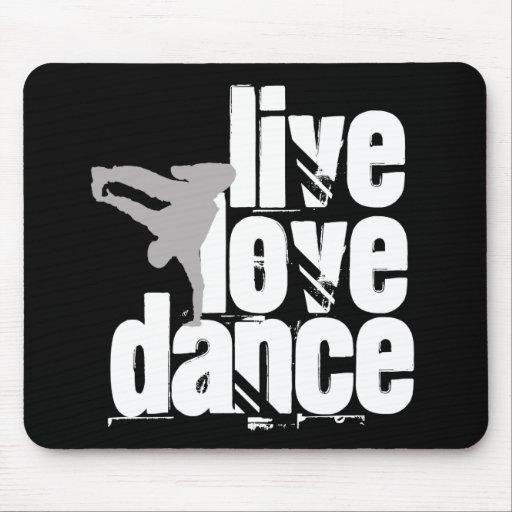 Vivo, amor, danza alfombrilla de ratones