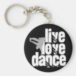 Vivo, amor, danza llaveros