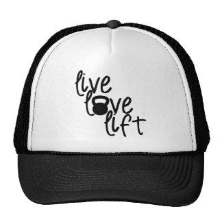 Vivo, amor, elevación gorras