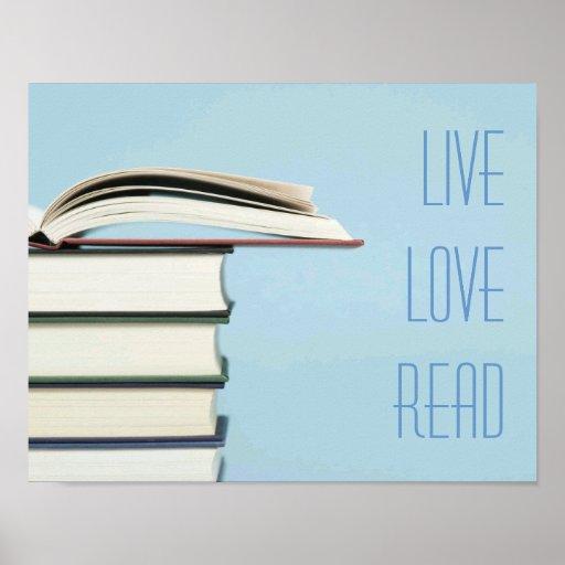 """""""Vivo, amor, lea"""" el poster del libro"""