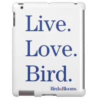 Vivo. Amor. Pájaro Funda Para iPad