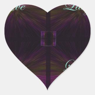 Vivo, amor, risa, aprenda - la púrpura colcomanias corazon personalizadas