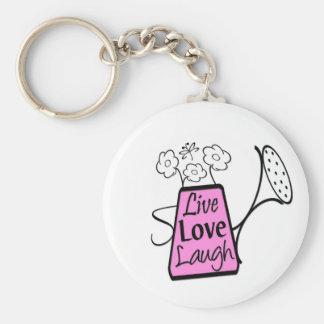Vivo, amor, risa llaveros personalizados